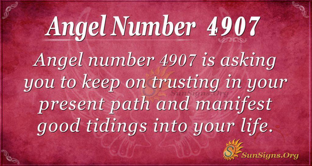 angel number 4907