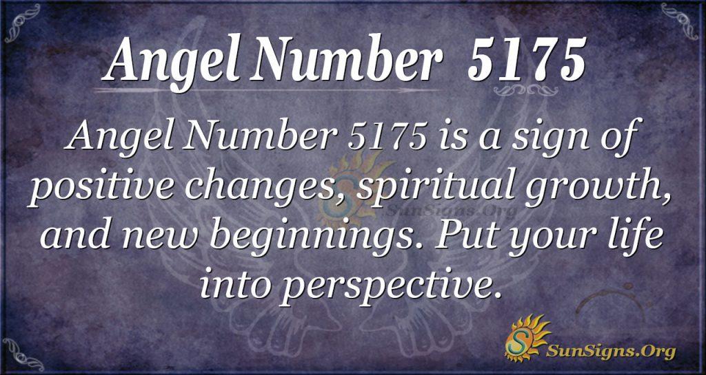 Angel number 5175