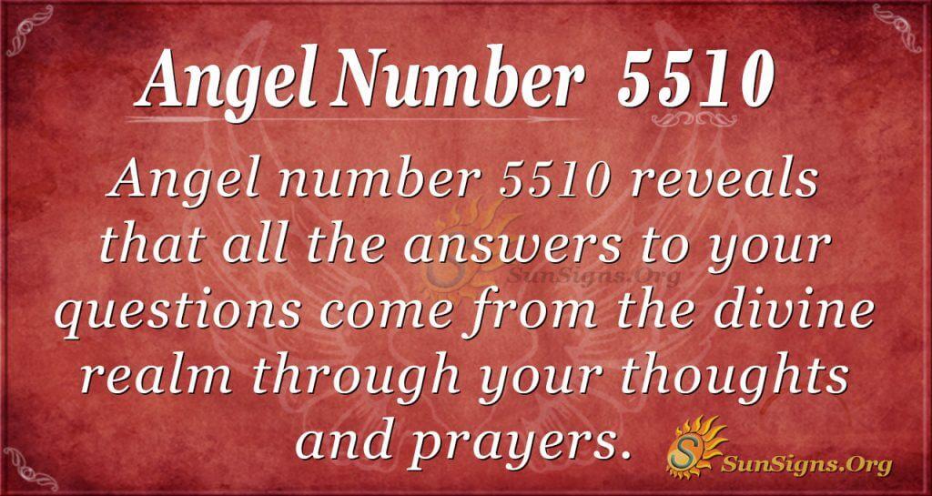 Angel number 5510