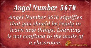 Angel number 5670