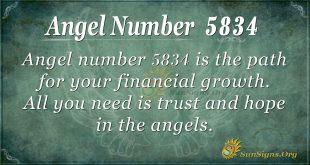 Angel number 5834