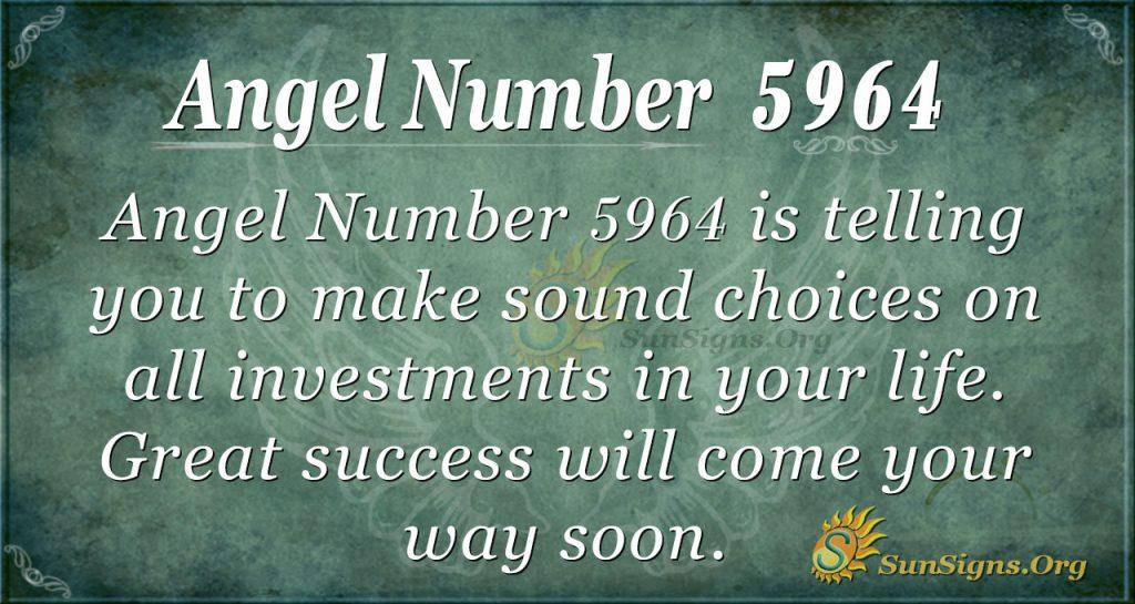 Angel number 5964