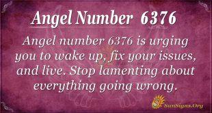 Angel number 6376