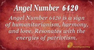 Angel number 6420