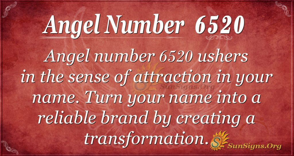 Angel Number 6520