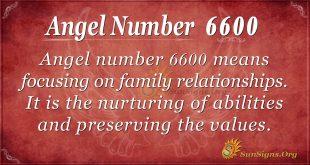 Angel number 6600