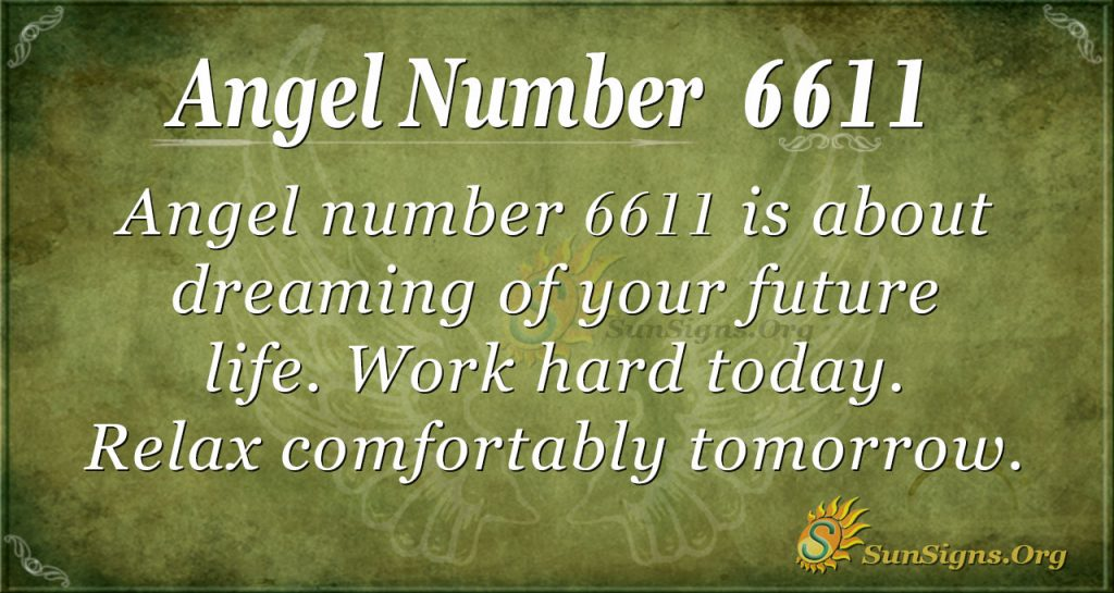 Angel number 6611