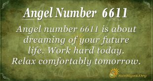 Angel number 6611
