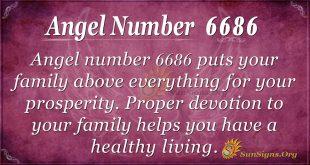 Angel number 6686