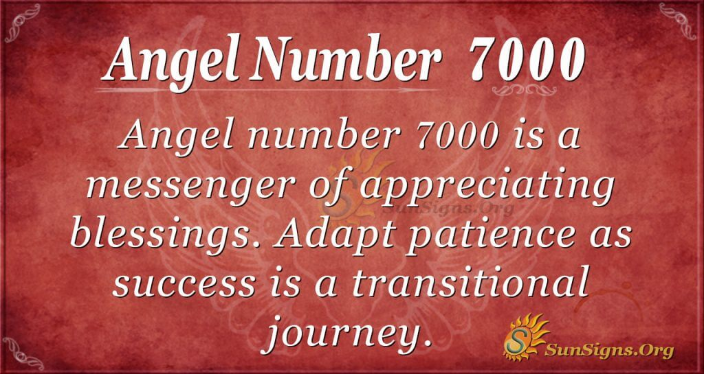 Angel number 7000