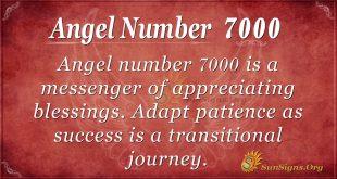 Angel number 7000