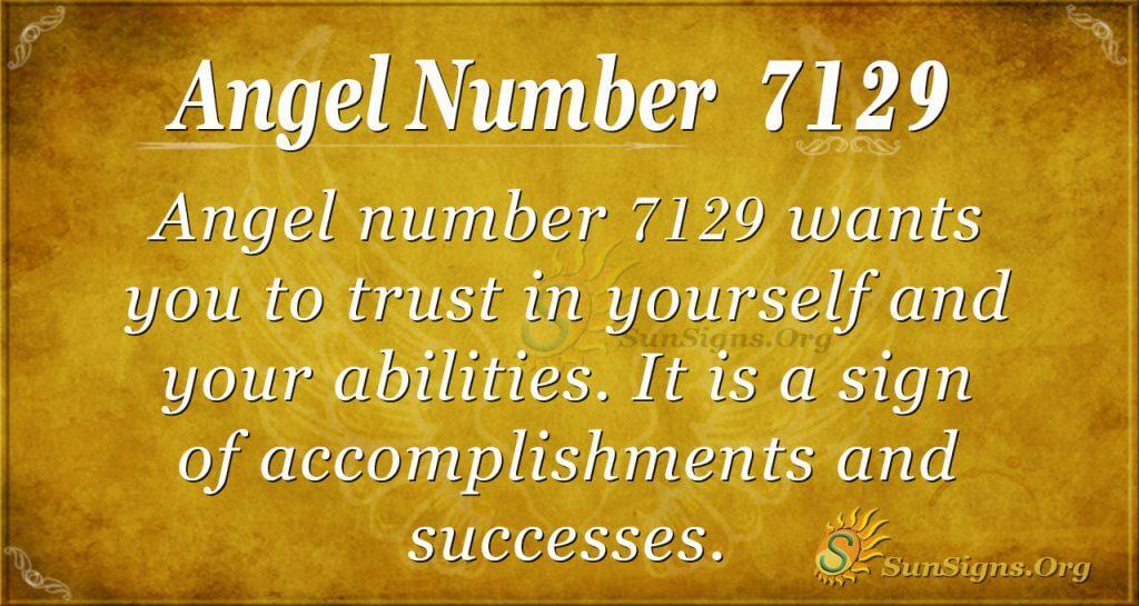 Angel number 7129