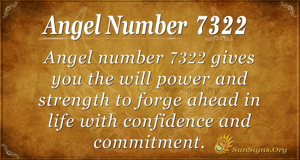 Angel number 7322