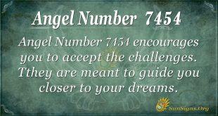 Angel number 7454