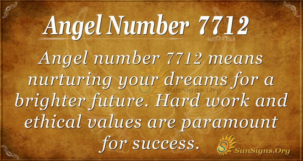 Angel number 7712