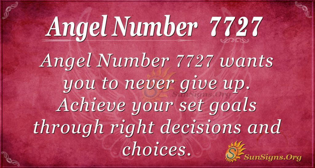 Angel number 7727