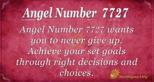 Angel number 7727