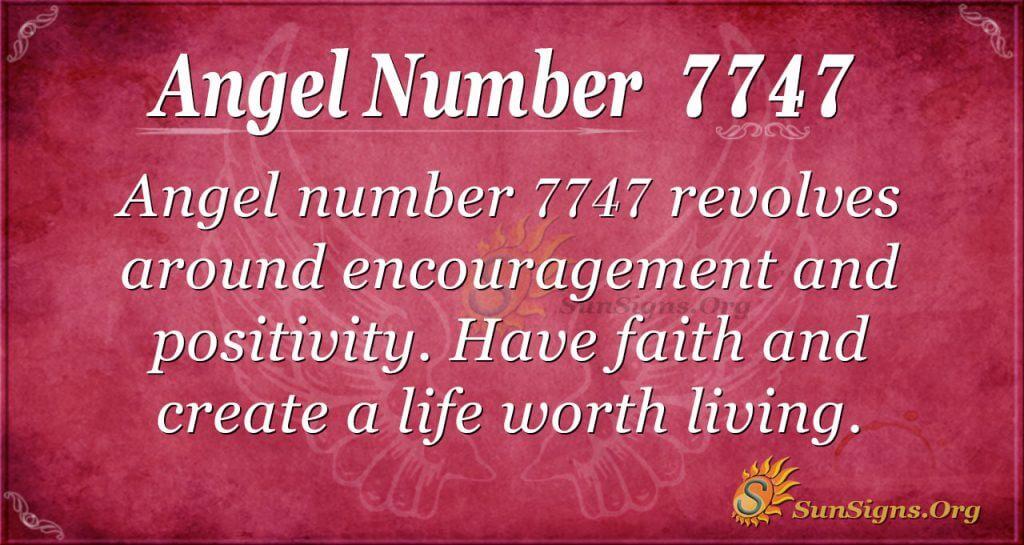Angel number 7747
