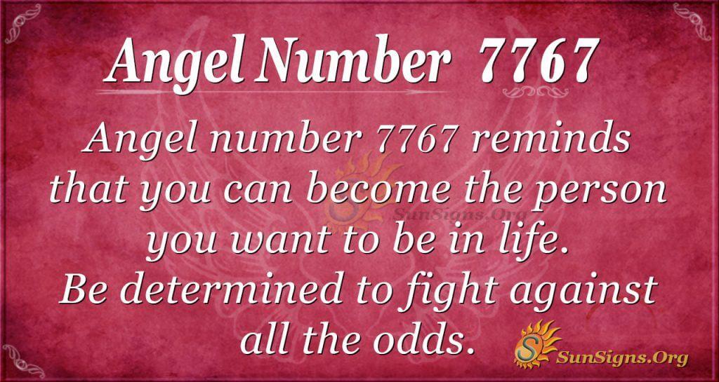 Angel number 7767