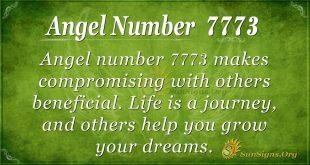 Angel number 7773