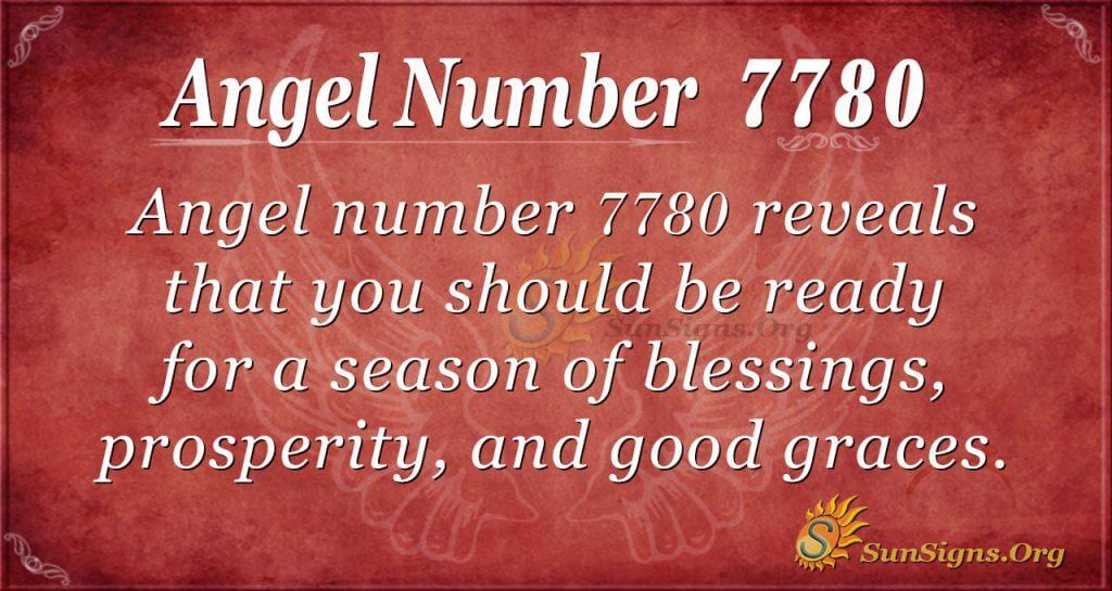 Angel number 7780