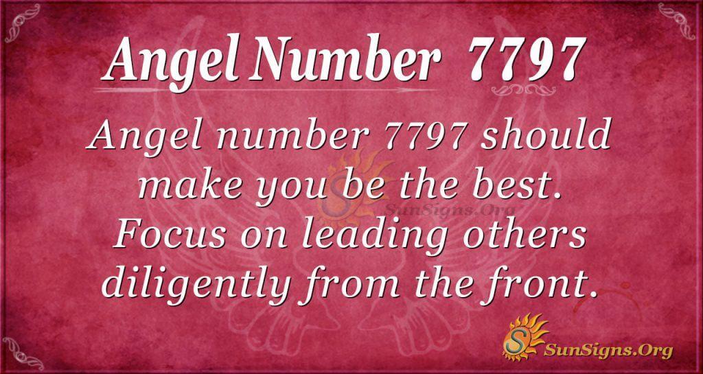 Angel number 7797