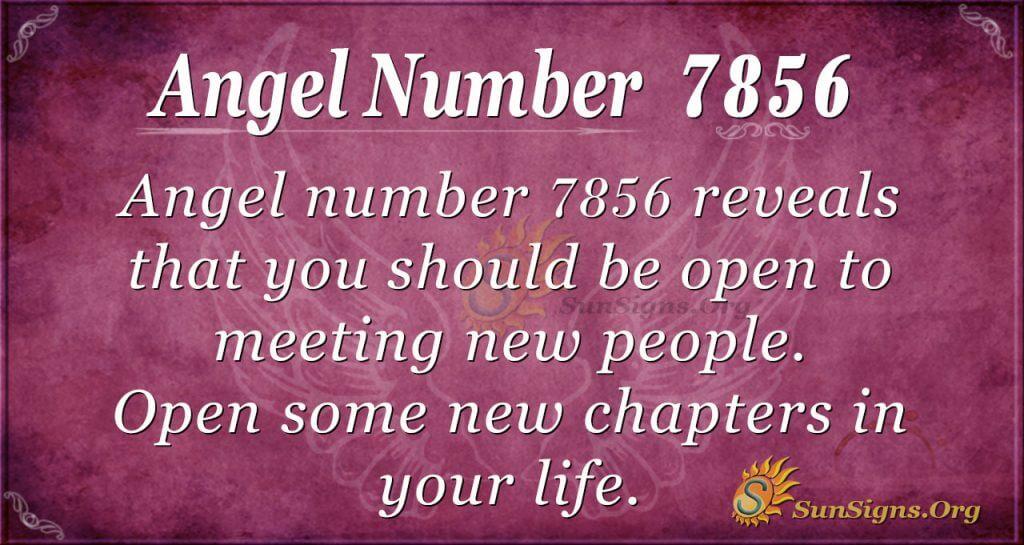 Angel number 7856