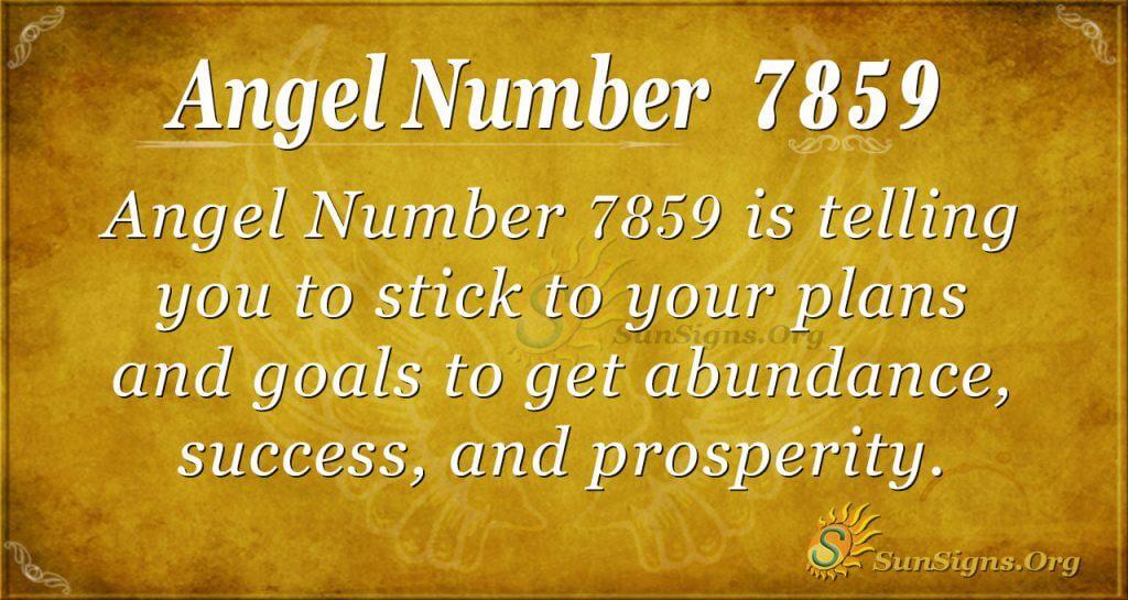 angel number 7859