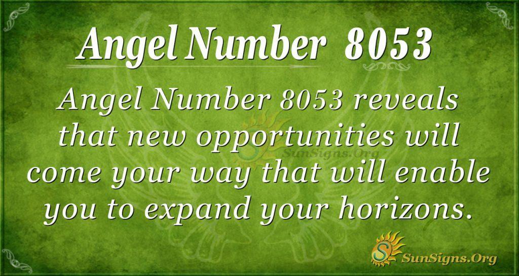 angel number 8053