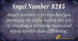 Angel number 8285