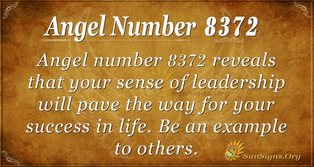 Angel number 8372