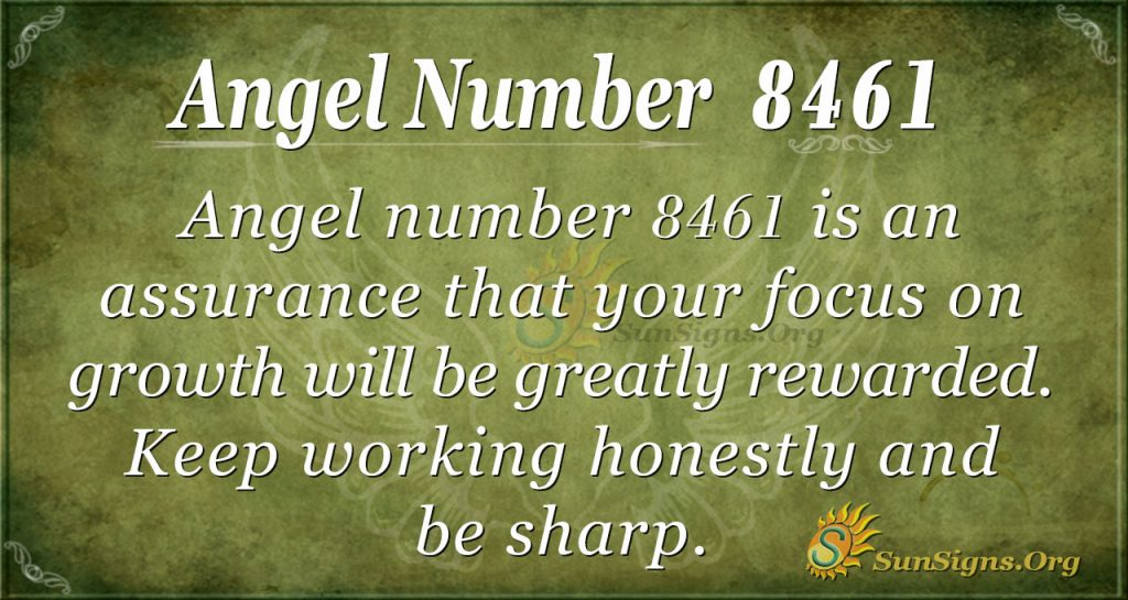 Angel number 8461