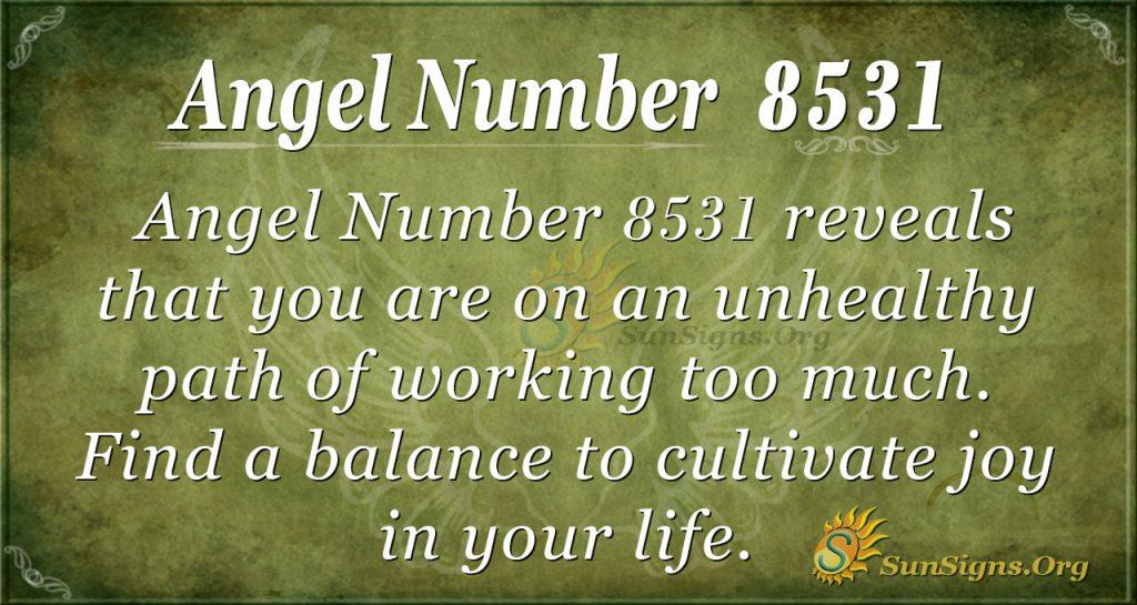Angel number 8531
