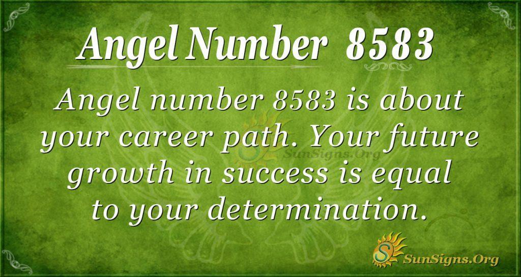 Angel number 8583