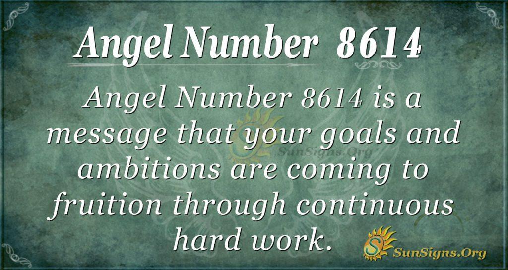 angel number 8614