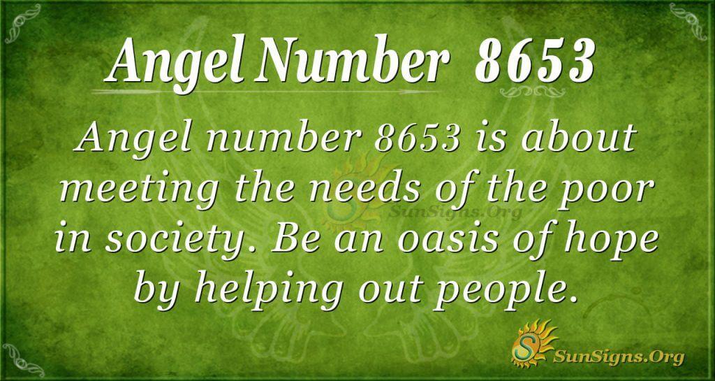 Angel number 8653
