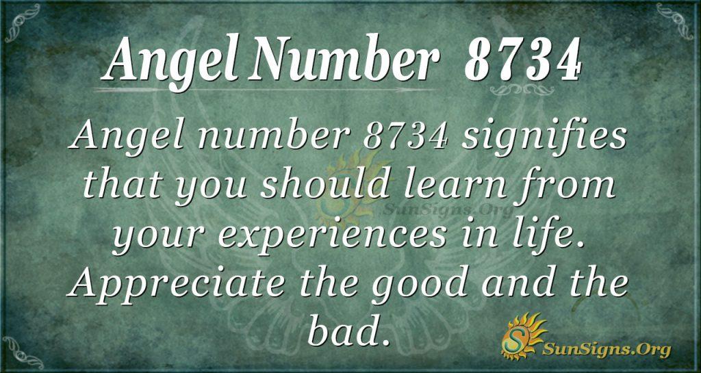 Angel Number 8734