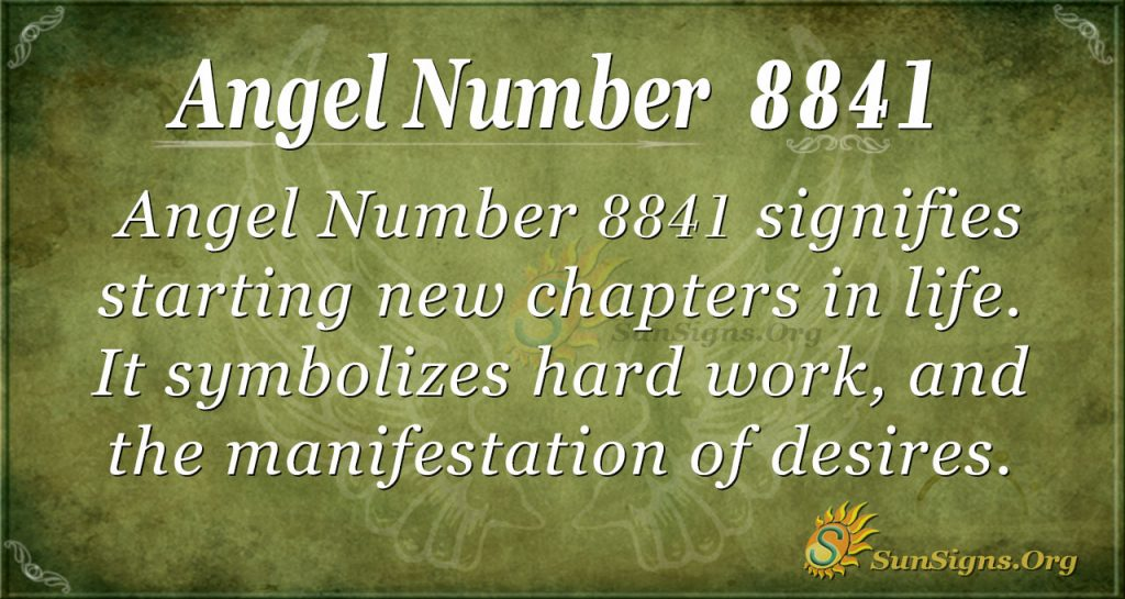 Angel Number 8841