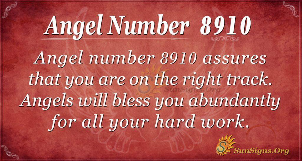 Angel number 8910