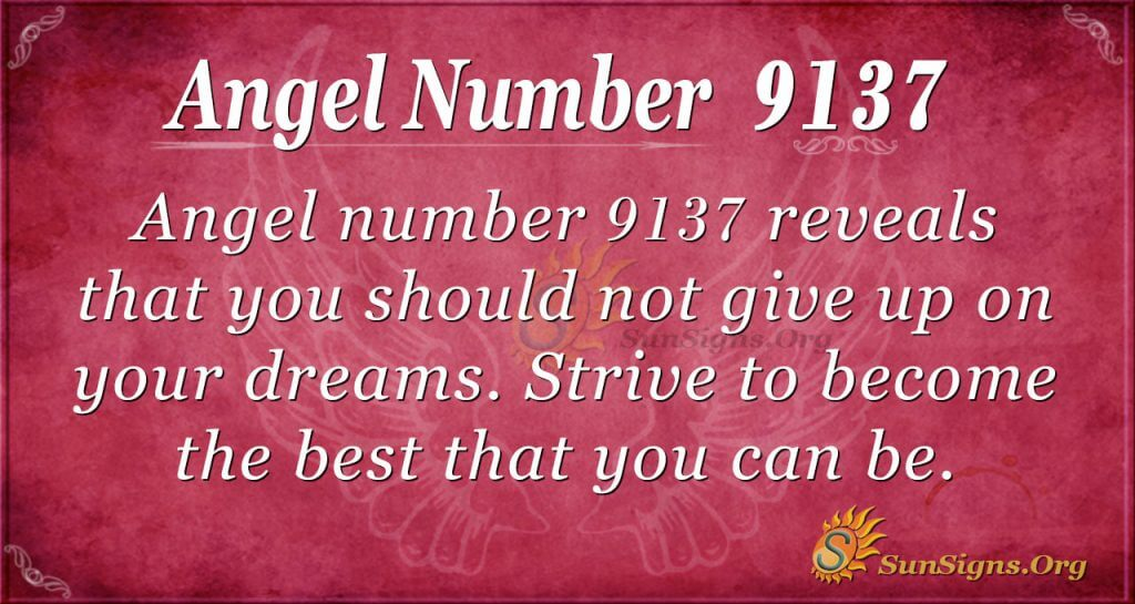 Angel Number 9137