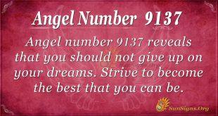 Angel Number 9137