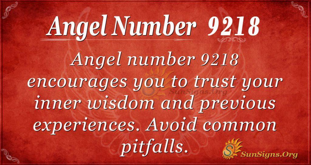 Angel number 9218