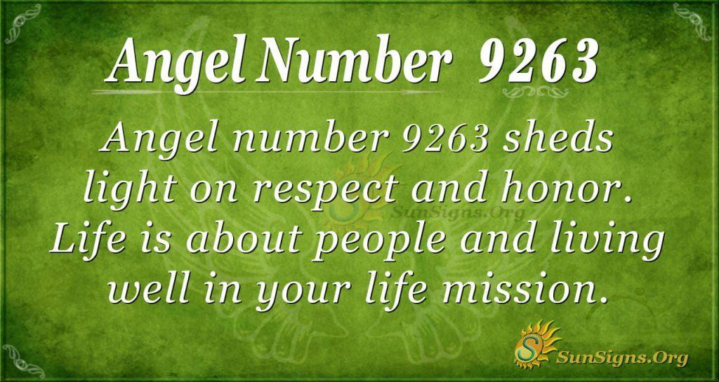 angel number 9263