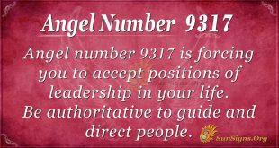 Angel number 9317