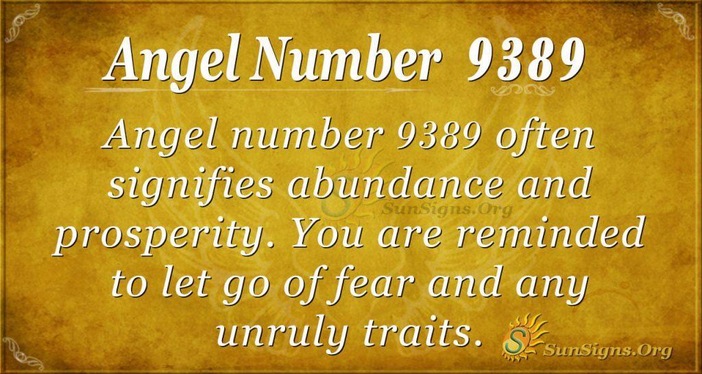 angel number 9389