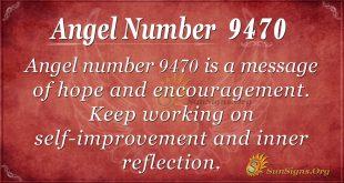 Angel number 9470