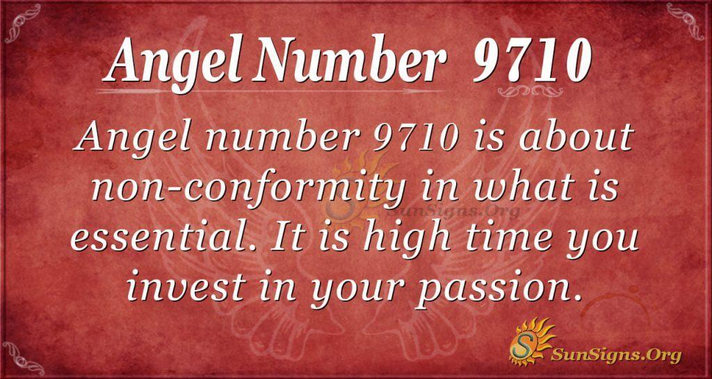 Angel number 9710