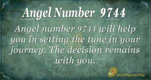 Angel number 9744