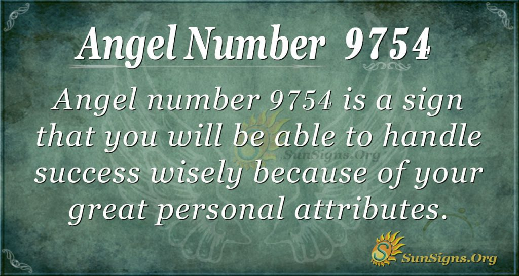 Angel number 9754