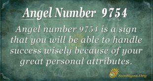 Angel number 9754